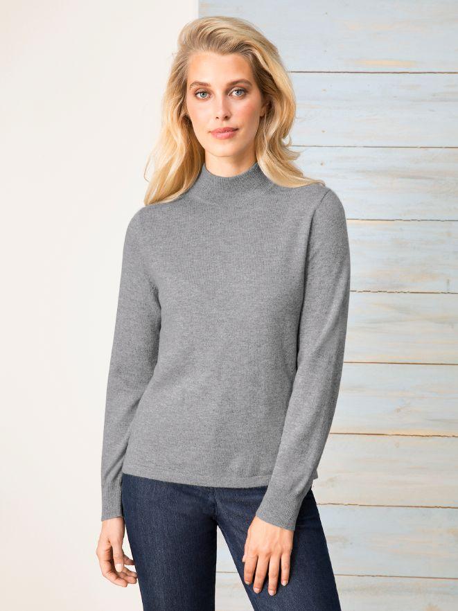 Cashmere-Stehbund-Pullover