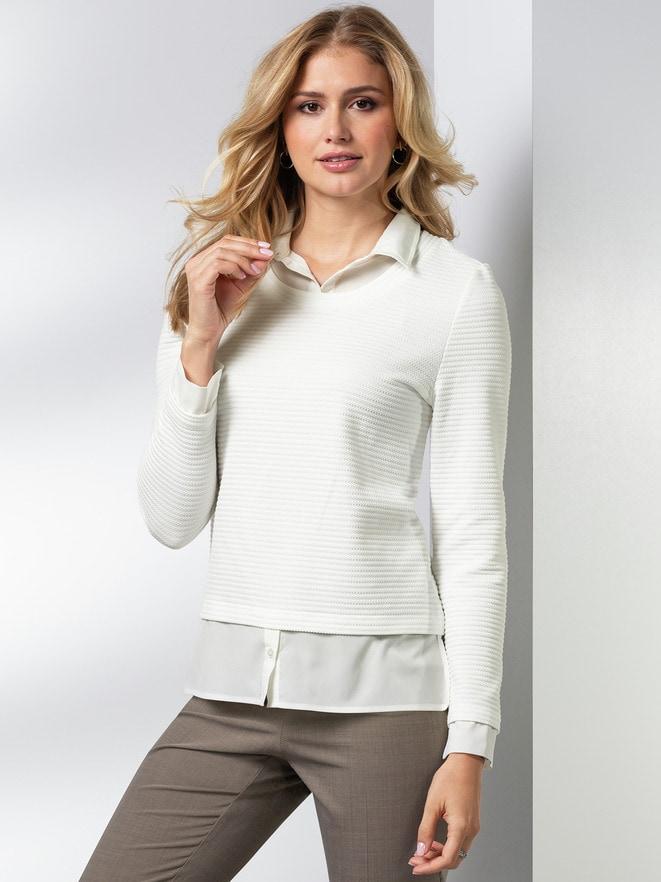 Easycare Sweatshirt Blusenkragen