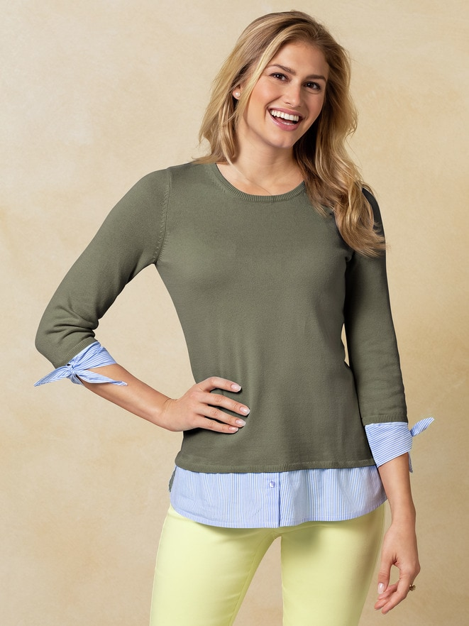 Blusenpullover 2-in-1