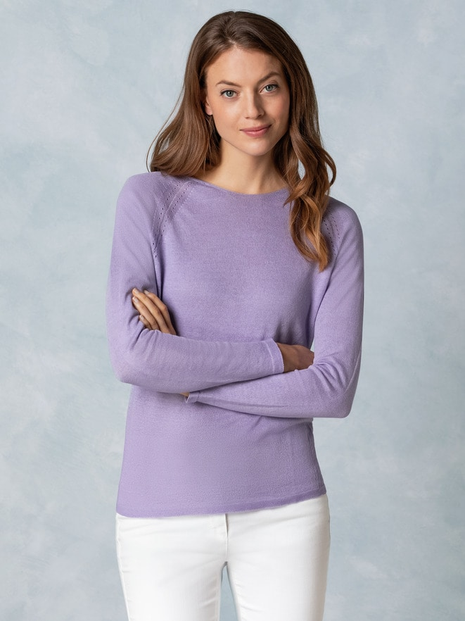 Baumwoll-Leinen -Pullover