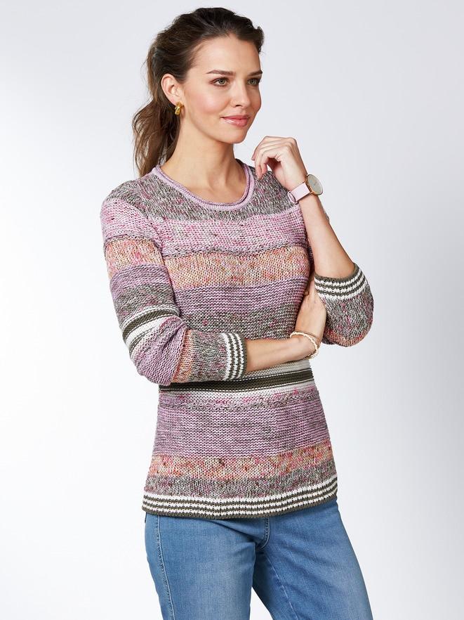 Pullover Mouline Effekt