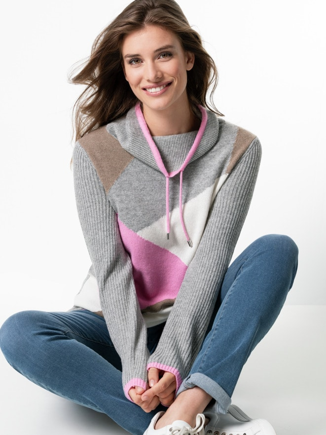 Pullover Intarsia Soft and Easy
