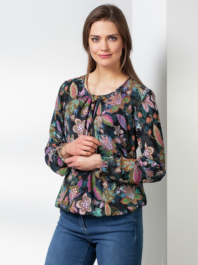 Blousonbluse Flower Power