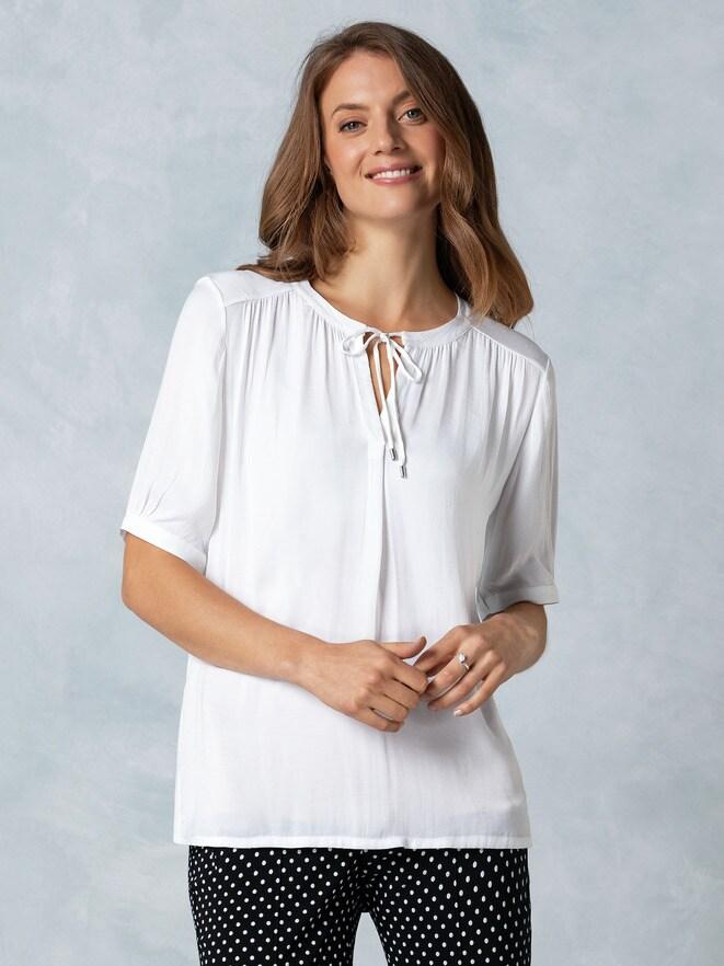 Shirtbluse Materialmix