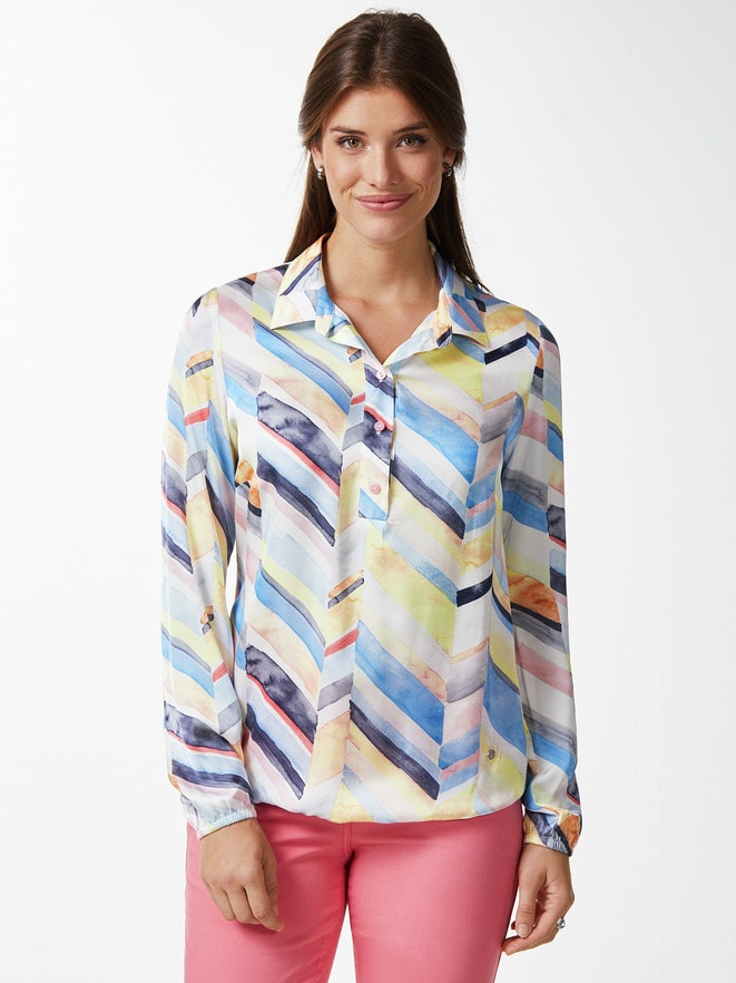Viskose-Shirtbluse Farbenspiel