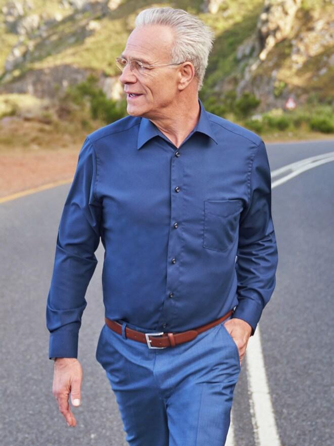 Outfit Extraglatt Hemd Walbusch Kragen