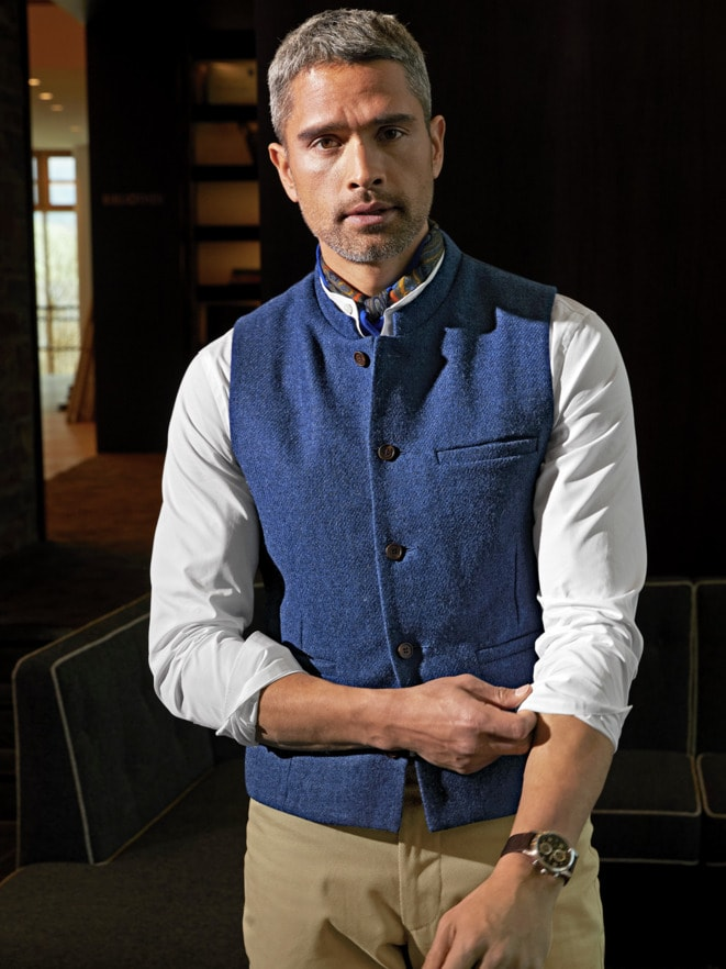 Outfit Harris Tweed Weste