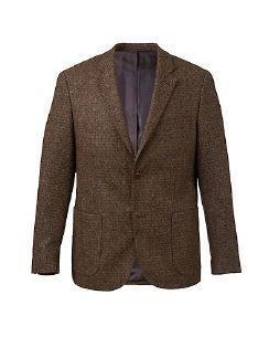 Tweed-Sakko Bottoli Tabak Detail 5
