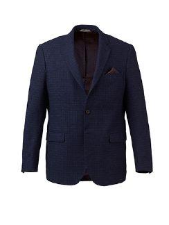 Woll-Cashmere Sakko Tollegno Blau Detail 5