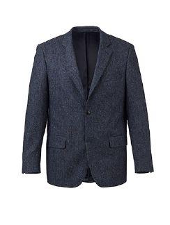 Donegal-Tweed Sakko Rauchblau Detail 5