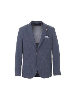 Flexmax-Sakko Faux-Uni Jeansblau Detail 5