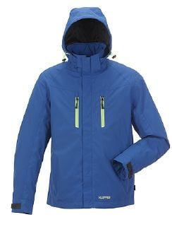 Klepper Jacke Pack Away Royalblau Detail 3