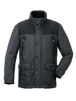 Aquastop Jacke Techno-Wool Anthrazit Detail 3