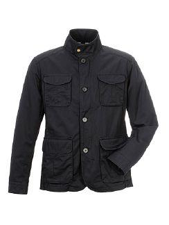 Baumwoll Freizeit Jacket Dunkelblau Detail 3