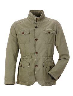 Baumwoll Jacket Khaki Detail 4