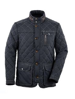 Herbst Steppjacke Navy Detail 5
