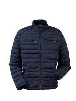 High Flex Thermo Jacke Blaumelange Detail 9