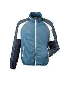 Track-Jacket Mittelblau Detail 5