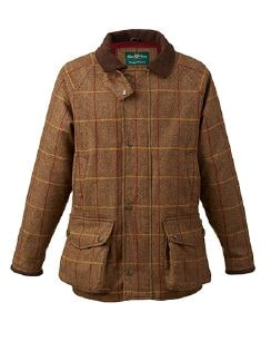 Alan Paine Wolljacke Chestnut Detail 5