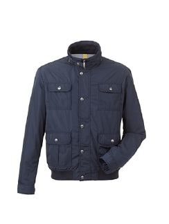 Travel Blouson Shape Memory Navy Detail 5