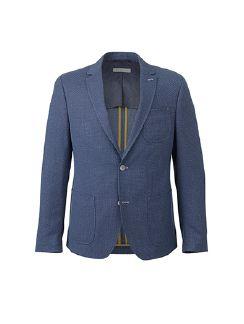 bugatti Leichtjersey Blazer Jeansblau Detail 4