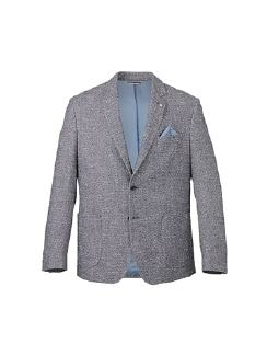 Marzotto homespun Blazer Hellblau Detail 7