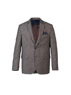 Tweed-Sakko Haselnussbraun Detail 6