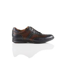 Lloyd Sneaker Bernard Blau/Braun Detail 2