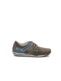 Boots-Schuh Grau Detail 5
