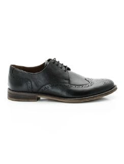 Brogue Schnürer Supersoft Schwarz Detail 5