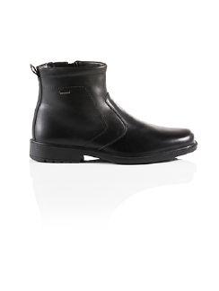 Aquastop Reißverschluß-Stiefel Schwarz Detail 5