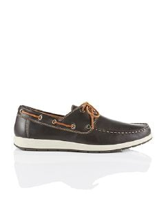 Boots-Schuh Dunkelbraun Detail 3