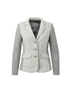 Strickblazer Inside Out Offwhite/Grau Detail 8