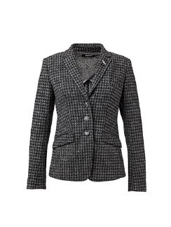 Pepita Strickblazer Anthrazit Detail 6