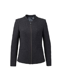Wolljersey-Jacke Anthrazit Detail 8