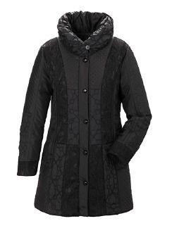 Exquisit Mantel Lady in Black Schwarz Detail 5