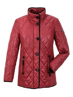 Steppjacke Gordon James Cranberryrot Detail 5