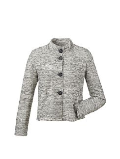 Betty Barclay Shirtjacke Grey Cream Detail 7