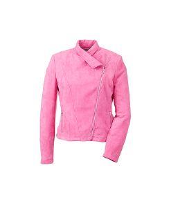 Betty Barclay Velours-Bikerjacke Pink Fuchsia Detail 6