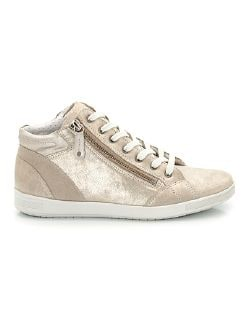 Hightop-Sneaker Puderstaub Gold Detail 3