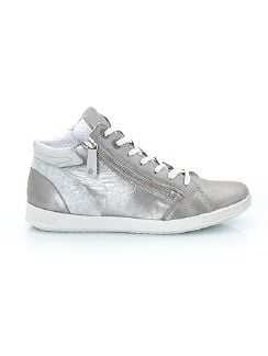 Hightop-Sneaker Puderstaub Silber Detail 3