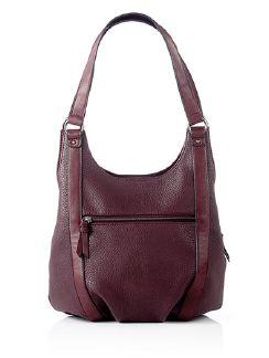 Handtasche Ordnungsrausch Bordeaux Detail 3